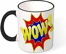 DKISEE Kaffeetasse Tee Tasse Wow Kaffeetassen