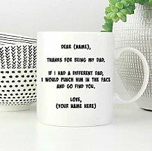 DKISEE Keramiktasse, lustige weiße Kaffeetasse,