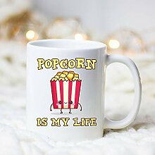 DKISEE Popcorn Is My Life Coffee Mug Popcorn