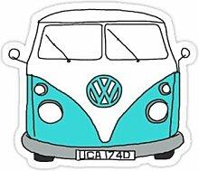 DKISEE Vinyl-Aufkleber, Motiv: VW Bus, Auto,
