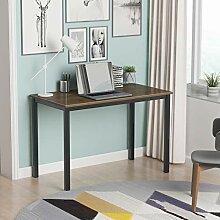 DlandHome 120 x 60 cm Computertisch Schreibtisch,