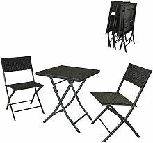 DlandHome 2 Stühle und 1 quadratischer Tisch