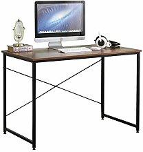 DlandHome Bürotisch Schreibtisch 110 x 60 x 75 cm