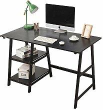 DlandHome Schreibtisch mit 2 Ablagen, 120 * 60 cm