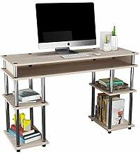 DlandHome Schreibtisch mit Ablagen Einfache