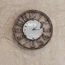 DLDL LOFT Industrial Style Wanduhr Ornament Wand