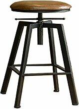 DLDL Vintage Schmiedeeisen Stuhl Barhocker Lift