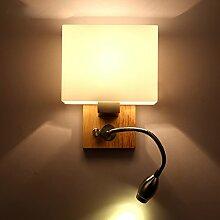 DLewiee Einfache Eichen-Glas-Lampenschirm-Wand-Lampen-Art- und Weisekreative Schlafzimmer-Lichter Treppen-Lampen-Korridor-Lampen-Gang-Lampen-Nachttisch-Leselampe