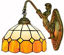 DLewiee Wandlampe Vintage Glasmalerei Wandlampen