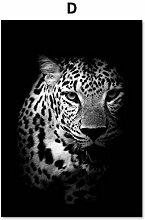 DLFALG Schwarz Weiß Tiger Lion Wolf Rhinoceros