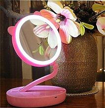 DLGF LED Schminkspiegel Klappspiegel mit Drei