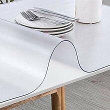 DLJFUZG Durchsichtige PVC Tischdecke,wasserdicht