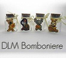 dlm26006Vorratsdosen aus Glas mit Tiere sortiert
