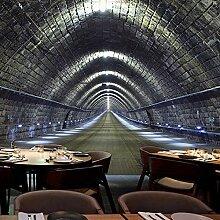 Dlpf 3D Retro Industrielle Tapete Mit Wandmalereien Cafe Bar Von Internet Cafés Ktv Thema Wallpaper Tunnel Nahtlosen Wand Tuch 300 Cm X 200 Cm