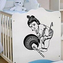 DLYD Baby Wandaufkleber Vinyl Hindu Gott Aufkleber