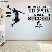 DLYD Basketball Zitat Dekoration Korb Wand Vinyl
