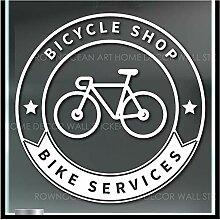 DLYD Fahrradgeschäft Vinyl Aufkleber