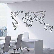 DLYD Geometric World Wandaufkleber Wohnzimmer