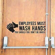 DLYD Mitarbeiter müssen ihre Hände waschen Vinyl