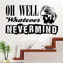 DLYD Nirvana Lyrics Aufkleber Vinyl Wandaufkleber