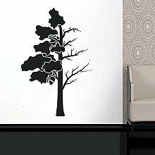 DLYD Stamm Zweige Blätter Wanddekoration Fenster