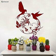 DLYD Wandaufkleber Aufkleber Vogelzweig Blume