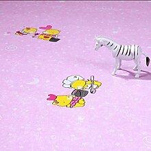 DM&Y Haushalt dicke Kunststoffböden wasserdichte Leder Sehne grün Papier PVC Bodenbelag Kunststoffmatten Boden , pink cartoon