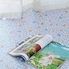 DM&Y Haushalt dicke Kunststoffböden wasserdichte Leder Sehne grün Papier PVC Bodenbelag Kunststoffmatten Boden , broken stone