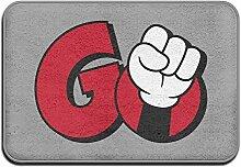DMDKG Rot Go Logo Cool Mats Fußmatte
