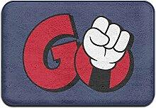 DMDKG Rot Go Logo Fußmatte Welcome Matte Outdoor