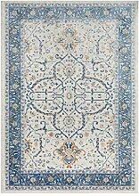 DMGY Luxus Teppich für Wohnzimmer (Retro, Blume,