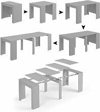Dmora Konsolentisch ausziehbar mit Erweiterungen,