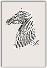 DMPro Moderne einfache abstrakte Kurve Pferd