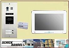 """DMR21S2ID Zweifamilienhaus Türklingel Komplettset Videospeicher +DT31M 10 """"Monitor 2 Monitore"""