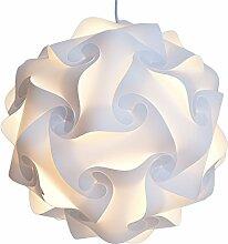 Dngdom Puzzle Hängelampe IQ Puzzle Lampe montiert Puzzle Lampe Hängelampe Deckenleuchte (S)