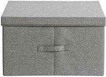DNSJB Aufbewahrungsbox aus Stoff mit Deckel