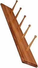 dobar 29770e Antik Garderobenleiste aus Holz Eiche