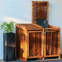 dobar Mülltonnenbox, 2x120l, BxTxH: 125x80x115 cm