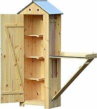 dobar schweres Gartengerätehaus aus Holz mit