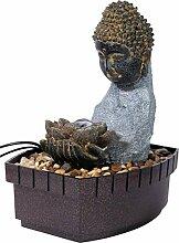 dobar Zimmerbrunnen Buddha in Steinoptik mit