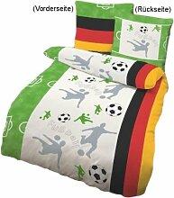 Dobnig 649182 Kinder Bettwäsche Fußball 135x200