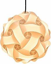 DOCJX DIY Puzzle Lampe Blüten Design Deckenlampe