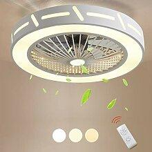 DOCJX Modern Fan Deckenleuchte LED Wohnzimmer