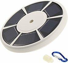 Docooler 26LEDs Solar Flagpole Light/Solar Fahnenmast/ Fahnenstange Licht /Wasserdicht Strahler für die Meisten 15-25ft Flag Pole für Nacht Beleuchtung