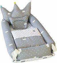 Docooler Crown Baby Krippe 100% Baumwolle weiche