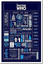 Doctor Who Infografik Poster Kork Pinnwand