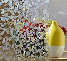 DODOING 3D Kieselsteine Sichtschutzfolie Milchglasfolie Fenster Folie selbstklebend,45x500cm
