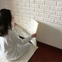 DODOING Fliesensticker Aufkleber Fliesenbild selbstklebend Tapete Design moderne 3D Optik für Wohnzimmer, Schlafzimmer oder Küche (10 Stück, Weiß)