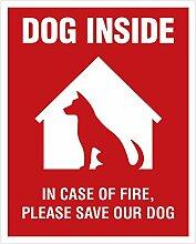 Dog Inside Aufkleber – 4 Stück – 10,2 x 12,7