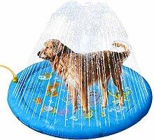Dog Sprinkler Pad,Sprinkler Wasser-Spielmatte